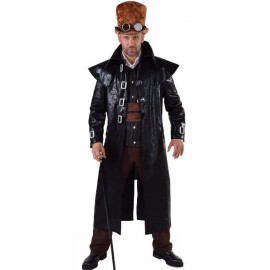 Déguisement Manteau Steampunk homme luxe noir