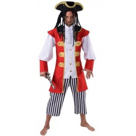 Déguisement capitaine crochet homme pirate luxe