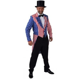 Déguisement queue de pie Stars and Stripes homme luxe