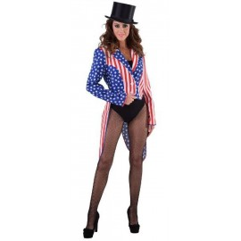 Déguisement queue de pie Stars and Stripes femme luxe