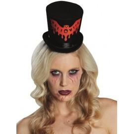 Mini chapeau haut de forme Halloween femme