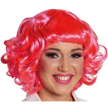 Perruque bouclée courte pinky rose femme
