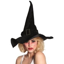 Chapeau sorcière femme velours noir