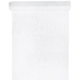 Chemin de table tulle blanc pailleté 5 M