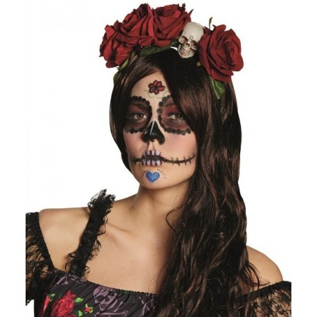 serre t te la catrina dia de los muertos femme halloween. Black Bedroom Furniture Sets. Home Design Ideas