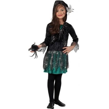 Déguisement araignée fille Halloween spider green