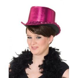 Chapeau haut de forme fuchsia femme luxe