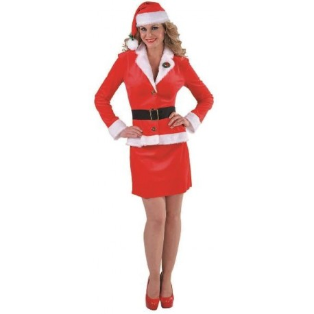 Déguisement mère noël femme Santa girl business luxe