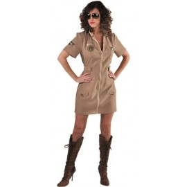 Déguisement pilote de chasse femme luxe