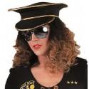 Casquette policier noire adulte luxe