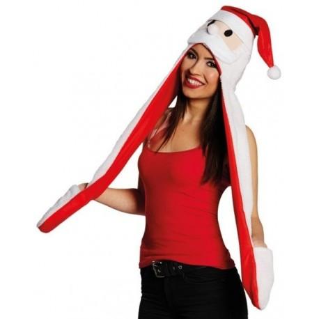 Bonnet père Noël adulte avec écharpe