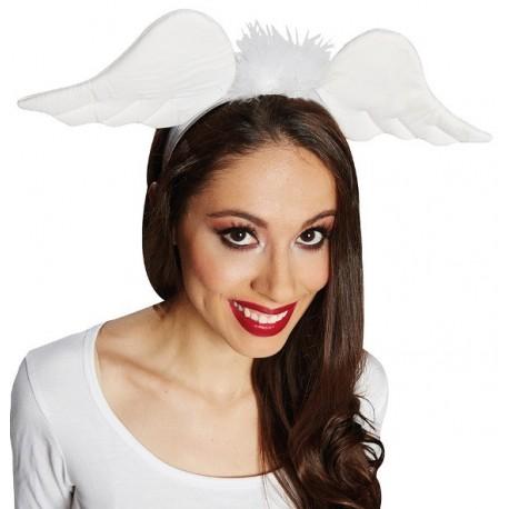 Serre-tête ailes d'ange blanc adulte