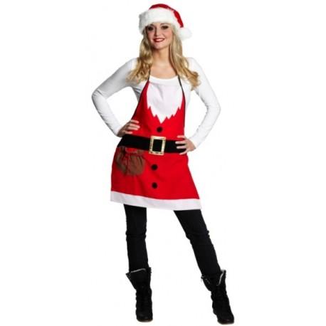 Déguisement tablier de Noël femme