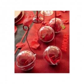 Boule Transparente 8 cm Ambiance 1