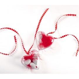Ruban coeur forme coeur en satin couleur 5 M