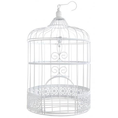 Cage à oiseaux Tirelire blanche 31 cm