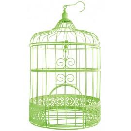 Tirelire cage à oiseaux verte 31 cm