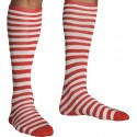 Chaussettes à rayures rouges et blanches adulte