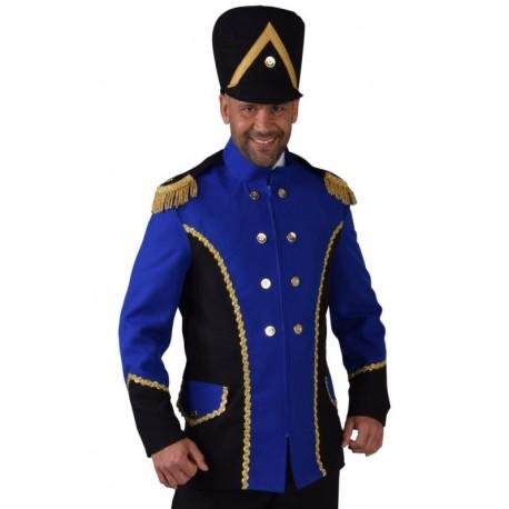 Déguisement veste harmonie bleu cobalt homme luxe
