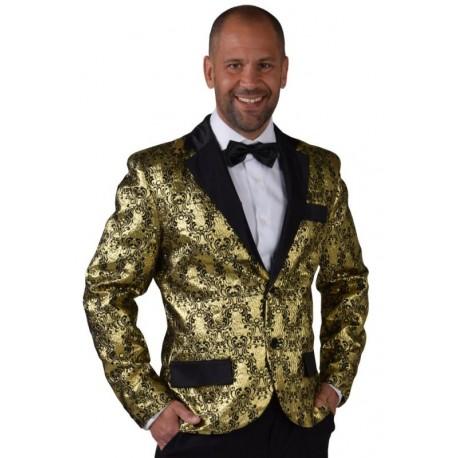 Déguisement veste brocart or homme luxe
