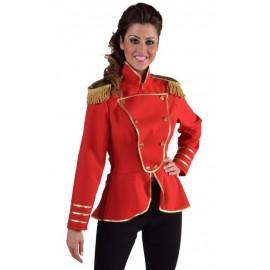 Déguisement veste harmonie rouge femme luxe