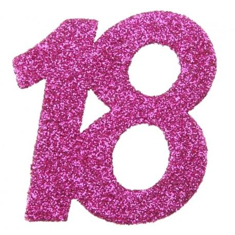 confettis anniversaire 18 ans fuchsia paillet les 6 confettis de table. Black Bedroom Furniture Sets. Home Design Ideas