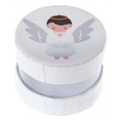Boîte à dragées ange 4 cm les 6