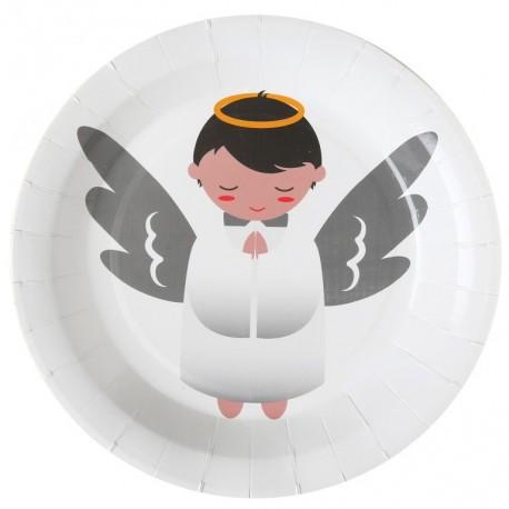 Assiettes ange carton blanc 22.5 cm les 10