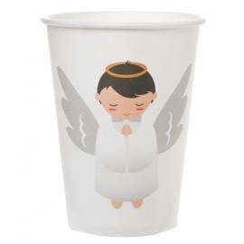 Gobelets ange carton blanc les 10