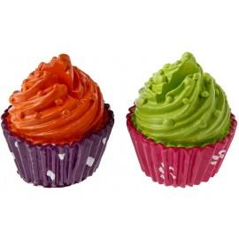 Marque place cupcake orange cupcake vert 4 cm les 2