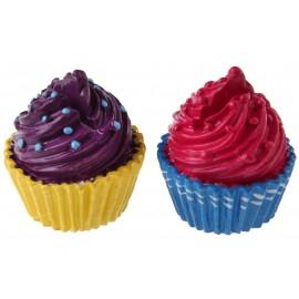 Marque place cupcake fuchsia cupcake prune 4 cm les 2