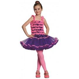 Déguisement ballerine fille rose violet
