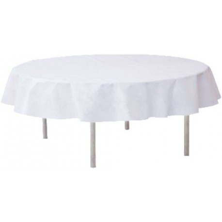 Nappe Ronde Intisse Blanc