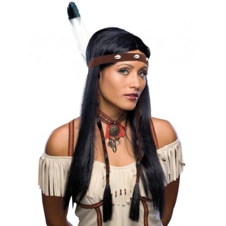 Perruque indienne longue femme