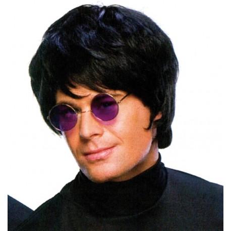 Perruque pop star noire homme