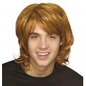 Perruque 70's blond cuivré homme