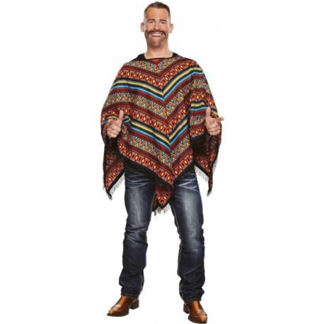 Déguisement mexicain poncho homme