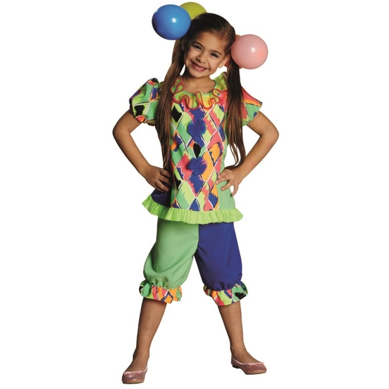 d guisement clown fille achat d guisement clown enfant clown carnaval. Black Bedroom Furniture Sets. Home Design Ideas