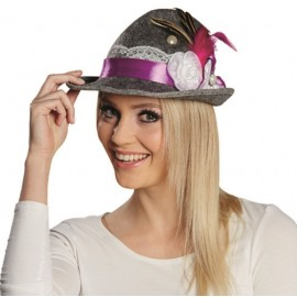 Chapeau tyrolien gris femme