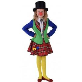 Déguisement clown Pipo fille luxe