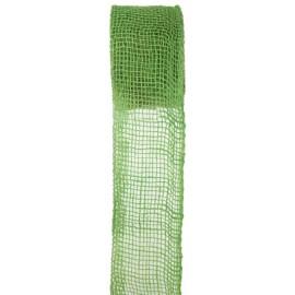 Ruban toile de jute vert 7 cm x 5 M