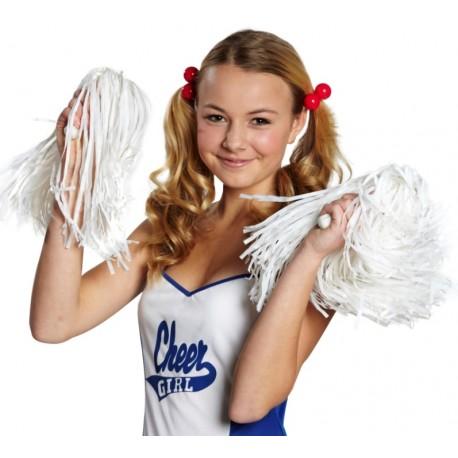 Pompon pompom girl blanc