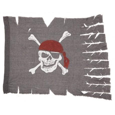Drapeau pirate gris en tissu 70 x 95 cm
