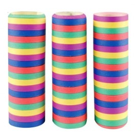 3 rouleaux serpentins couleur de 18 serpentins