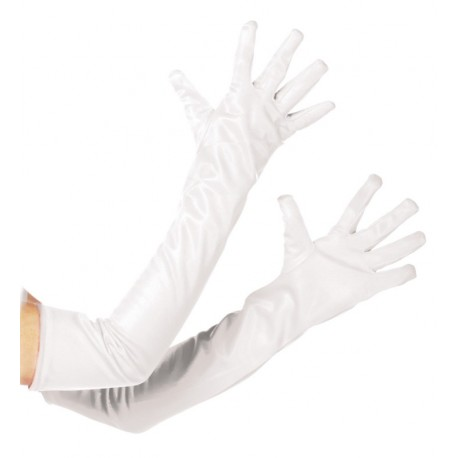 Gants longs blancs adulte