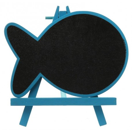 Marque table ardoise poisson turquoise