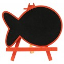 Marque table ardoise poisson orange
