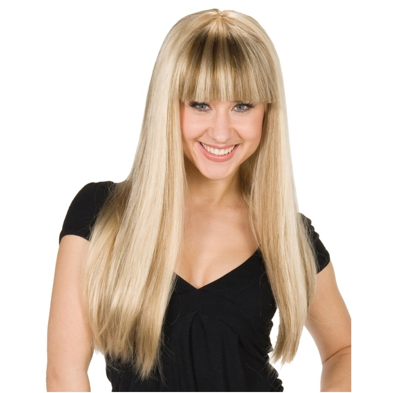 Perruque blonde longue femme - Baiskadreams.