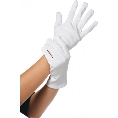 Gants blancs courts adulte 24 cm