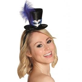 Mini chapeau haut de forme vénitien femme